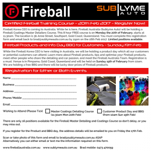 Fireball Registration